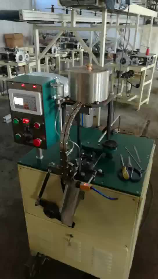 new design custom wick crimping and tabbing machine with fast speed