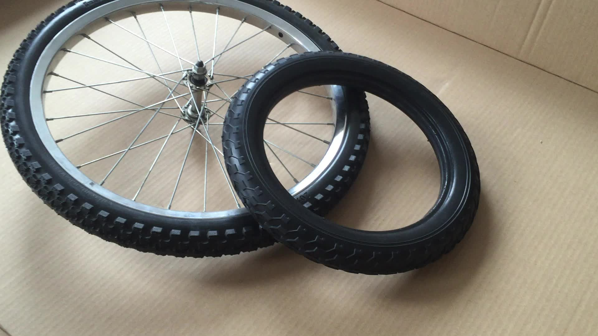 "12''14"" 18"" 20"" 24"" 26"" Flat Free Bike Trailer Wheel Fat Bike Tires For Trailer"