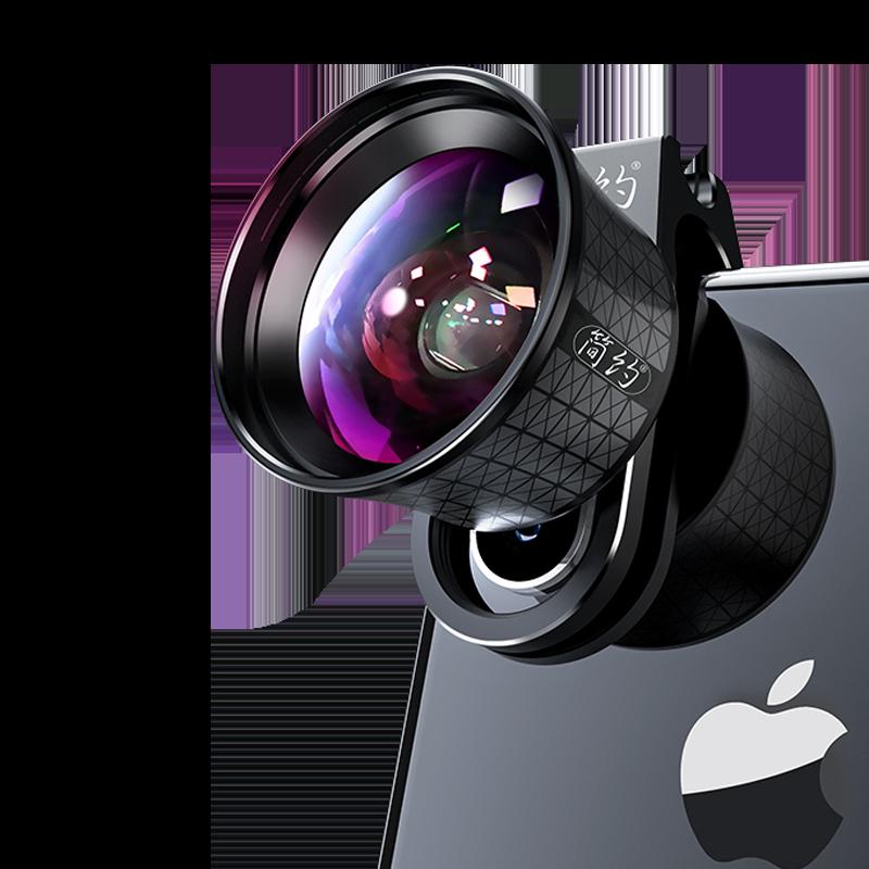 简约K4 专业手机镜头iphonex苹果7p广角8p通用6splus单反外置外接后置摄像头微距鱼眼拍摄影套装拍照高清11