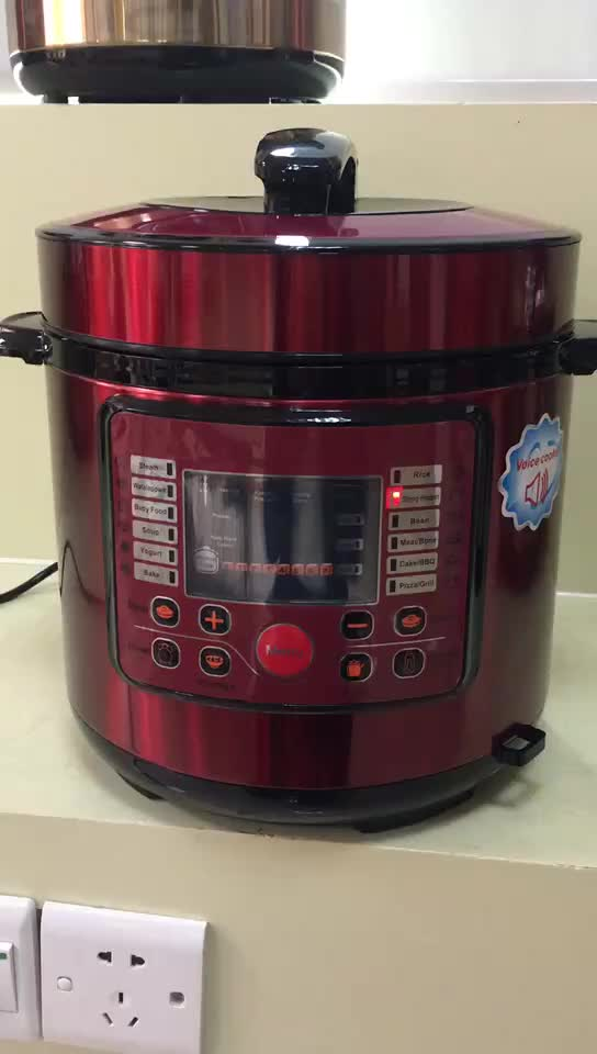 Electrical Pressure Cooker With Voice Selected Functions