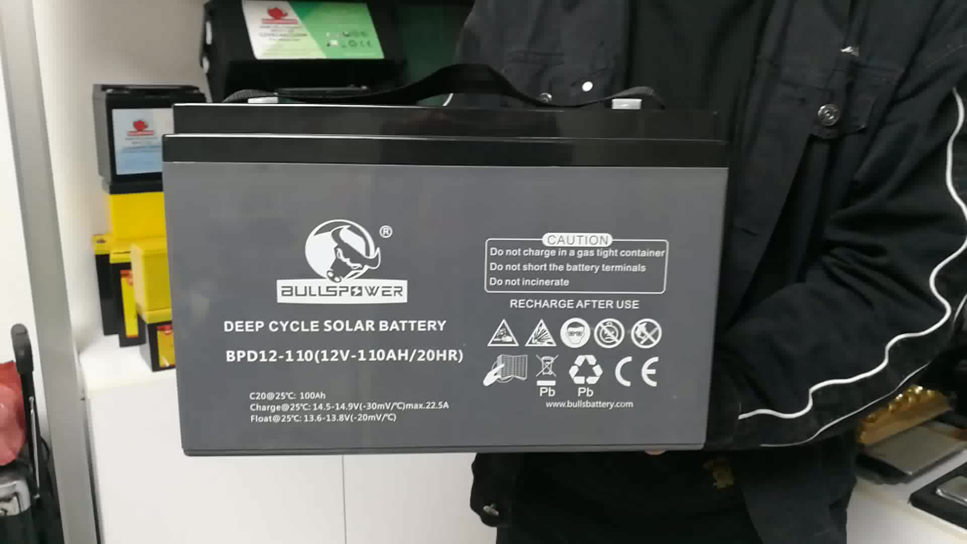 Bullspower AGM VRLA Solar akku batterie deep cycle gel 12v 100a battery
