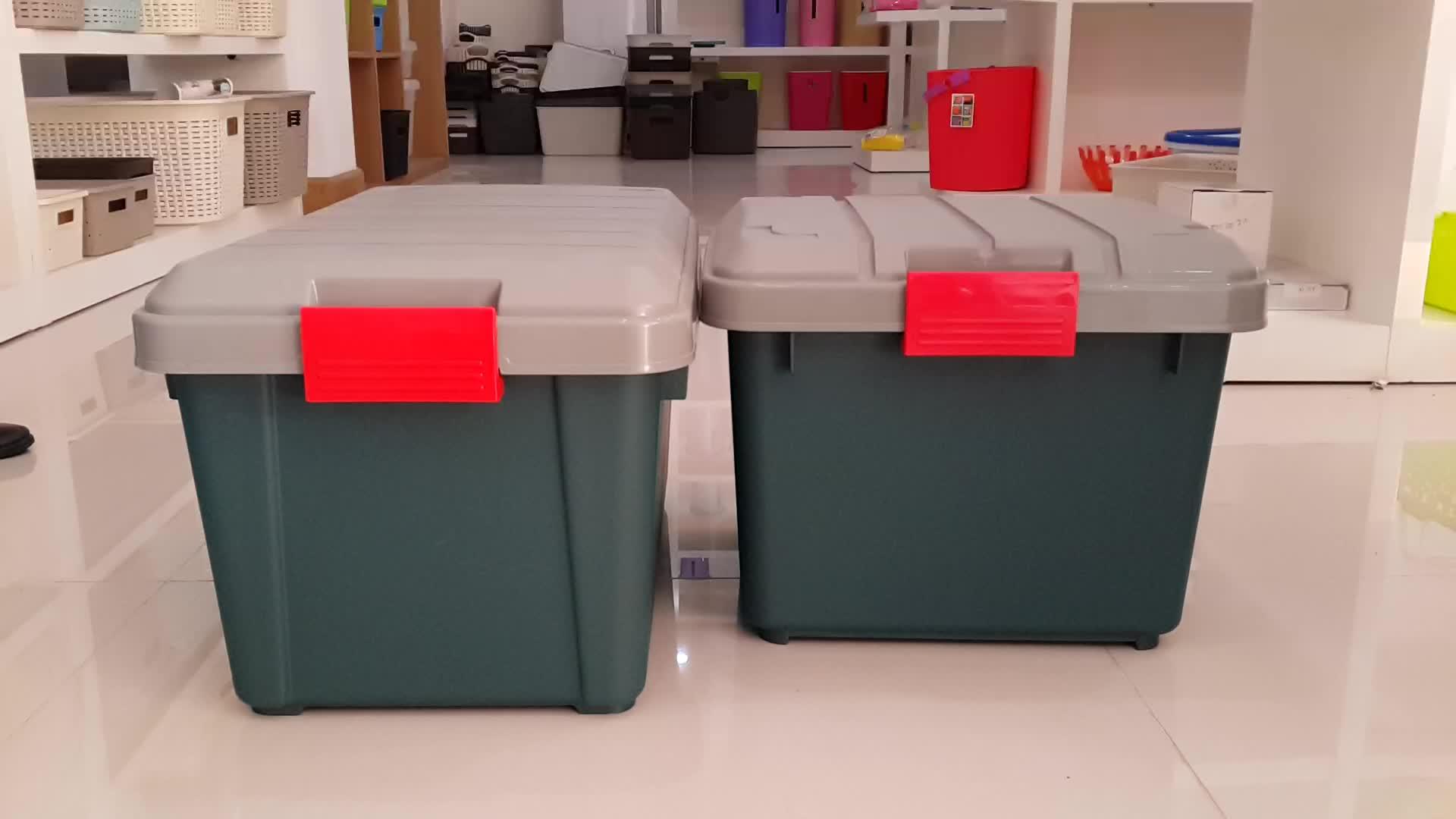 55L bagaj organizatörler, plastik depolama gövde araba