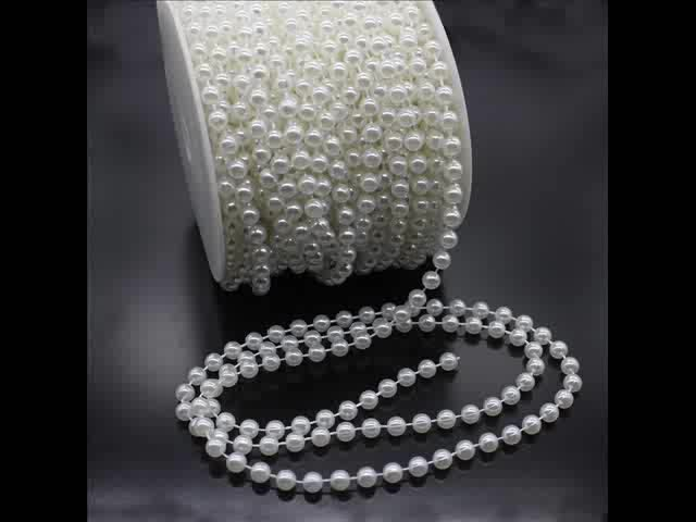 Stunning Cream Pearl Garland As Christmas Tree Decoration