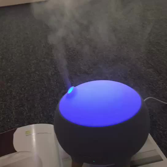 WILIT Aroma diffuser Humidifier with flame LED light neon color night light