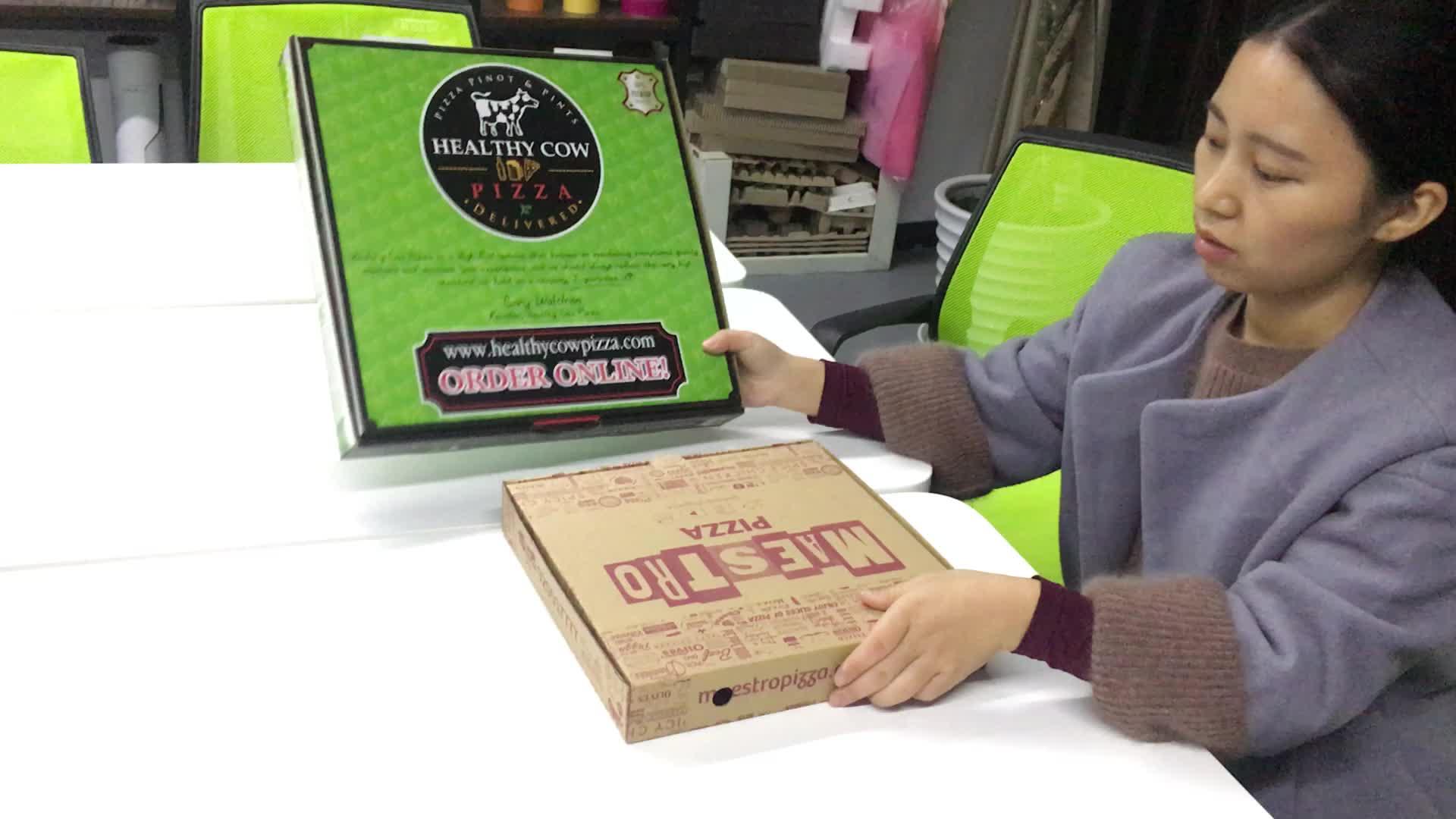 सस्ते अनुकूलित foldable नालीदार पैकेजिंग पिज्जा बॉक्स