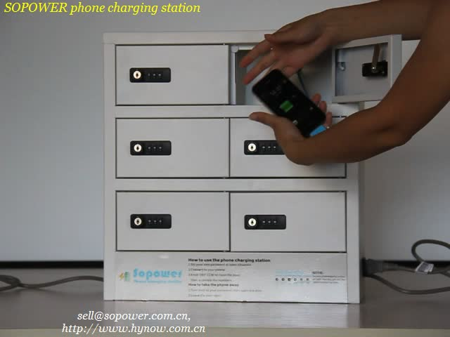 wall-mounted phone charging kiosk with 10 minute charging time fast charging phone machine with led charging box