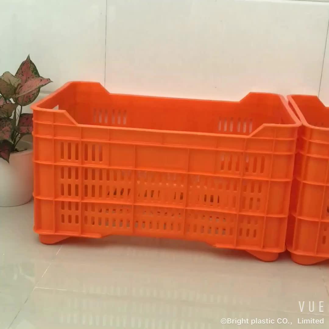 सब्जियों के लिए अच्छी गुणवत्ता प्लास्टिक Foldable टोकरा प्लास्टिक बॉक्स बंधनेवाला प्लास्टिक फल टोकरे