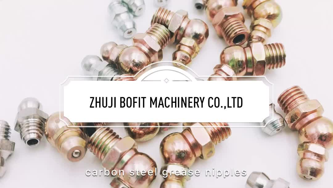 Bofit high quality flat head grease nipple/button head type grease nipple/brass button head grease fittings