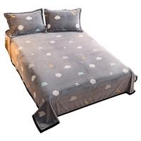 南极人牛奶绒单件珊瑚绒加厚床单质量好不好