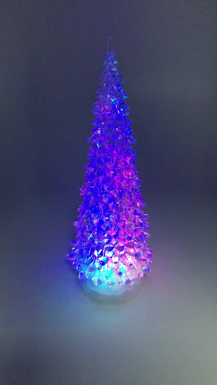 Battery Operated 5 Layer Colorful Led Lighted Clear ...