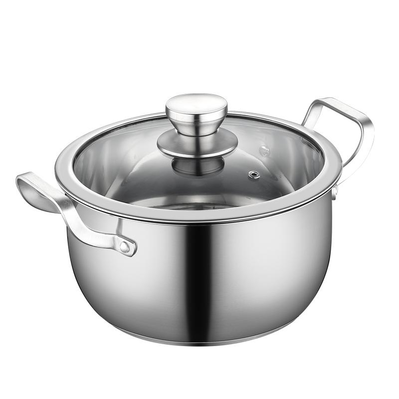 304不锈钢锅加厚燃气电磁炉煮粥锅怎么样