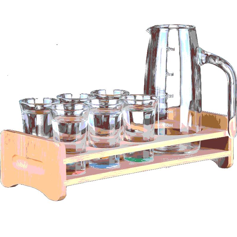 套装水晶玻璃酒具小号2两一口杯