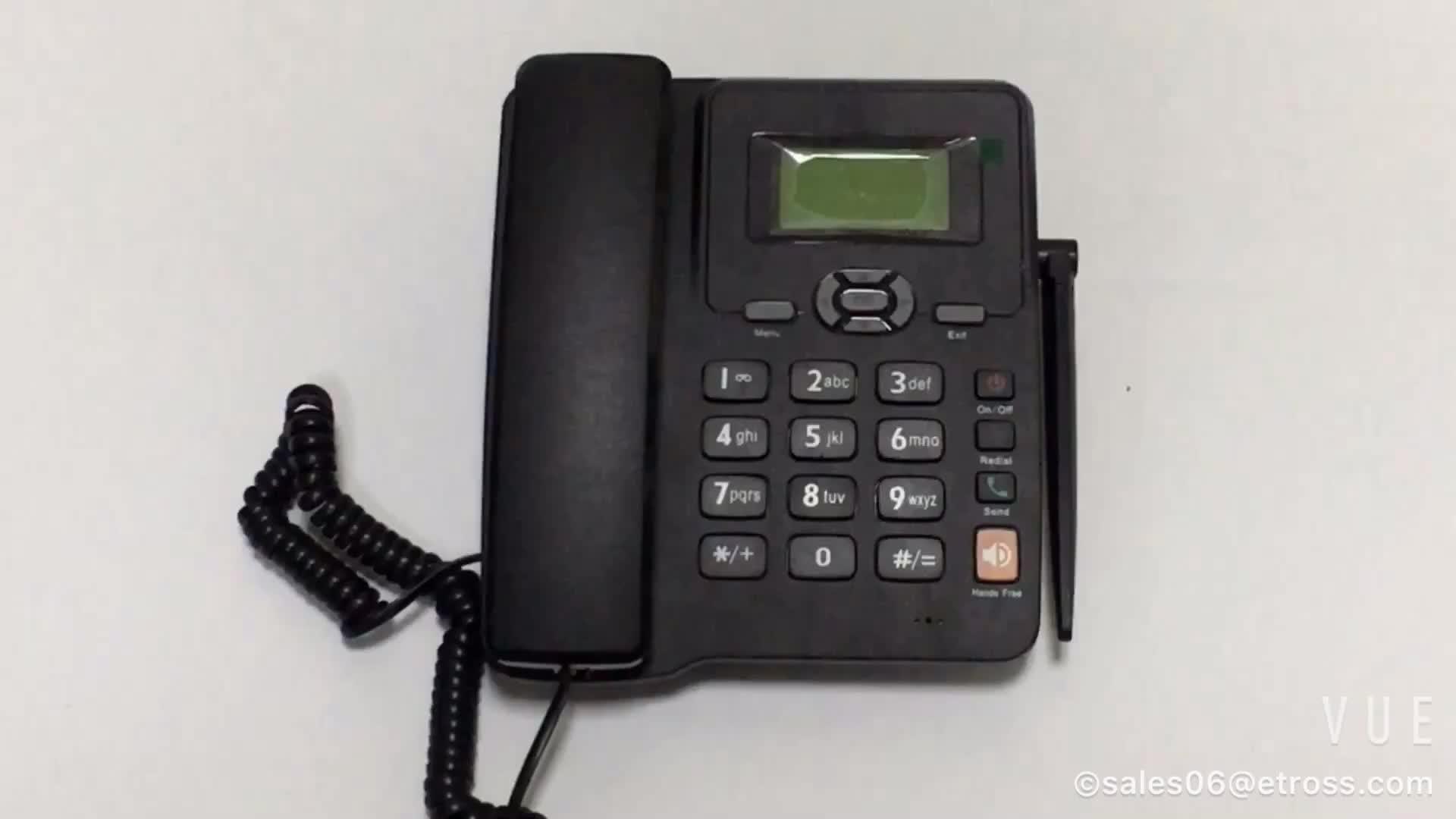 在庫!! シングル sim gsm 固定無線デスク電話テーブル電話電話 fm
