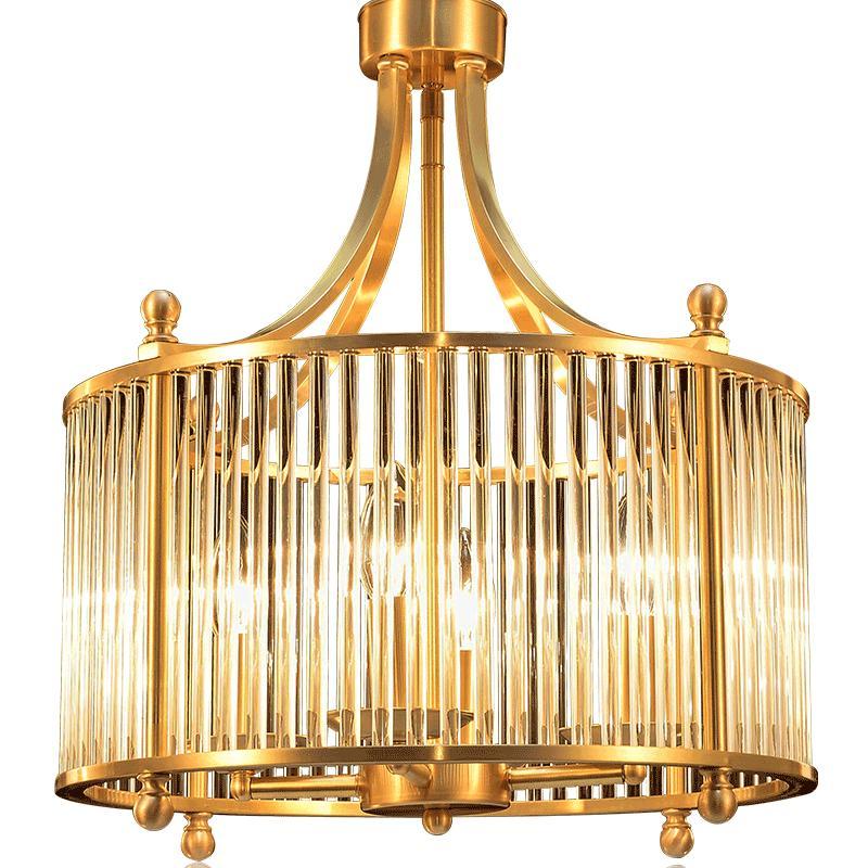 月影全铜美式乡村卧室书房轻奢吊灯评价如何