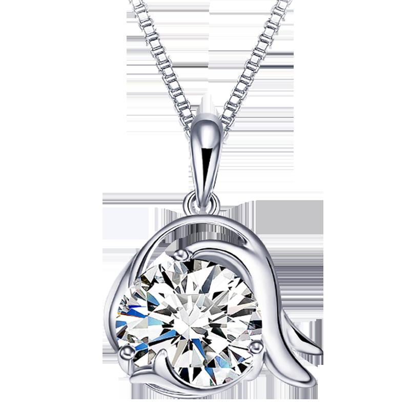 卡蒂罗十二星座项链女纯银吊坠简约气质短款锁骨链生日礼物送女友