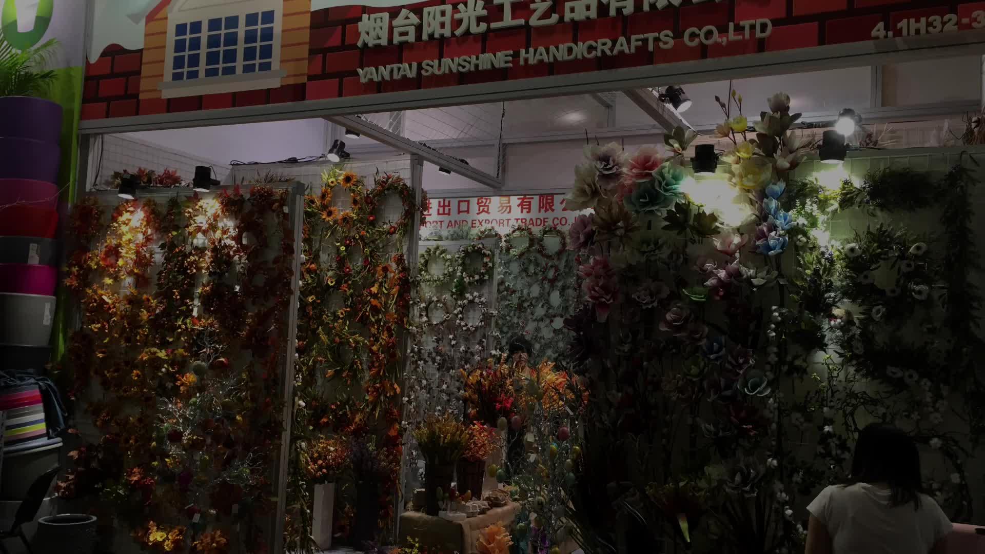"""20 """"מושלגים הולי ירק אצטרובל פרחים מלאכותיים זר עם אדום ברי"""