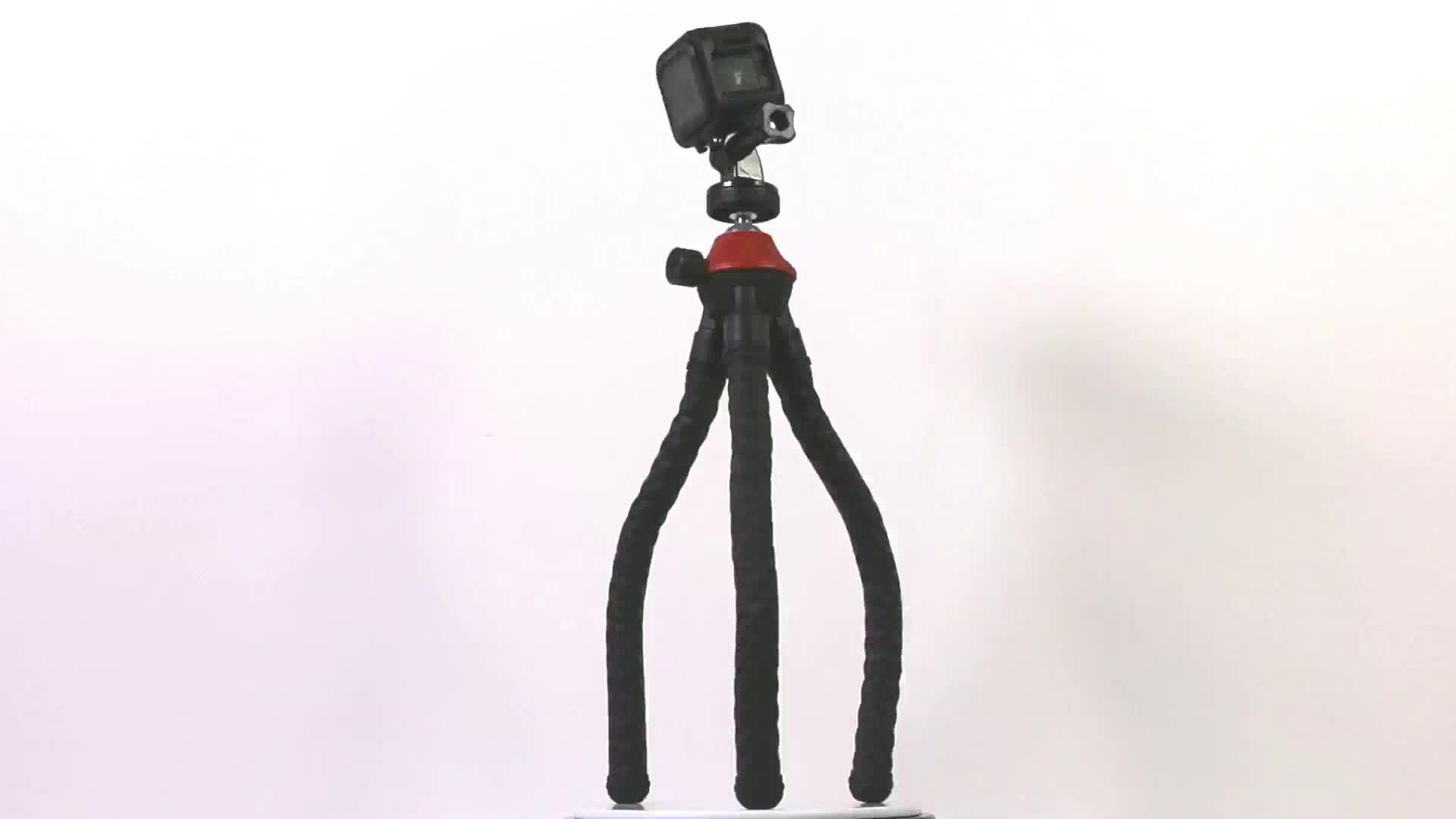 Sunrise 360 Degree Rotation 5kg Load Mini Portable Flexible Octopus Mobile Phone Tripod for Outdoor Travel Selfie