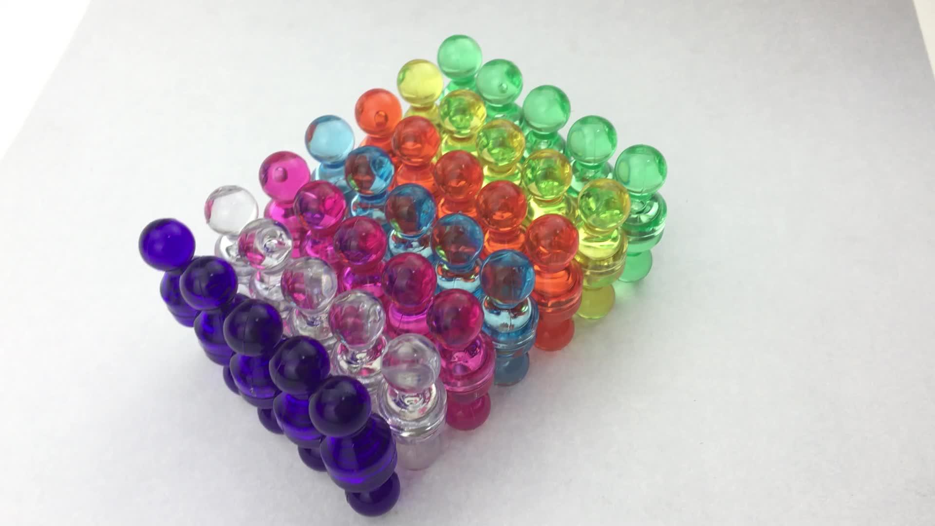 Hot Koop 80 stks 7 Diverse Kleur Magnetische Push Pins/Neodymium Magneten