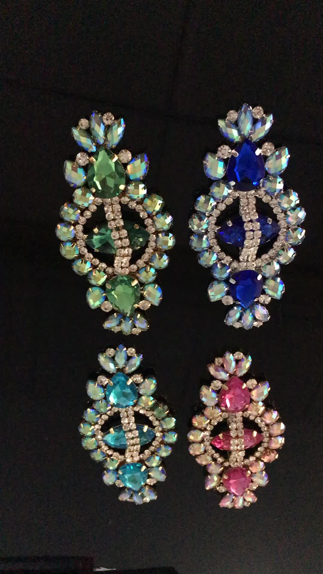Colorful resin acrylic stone Wedding large Brooch Wholesale for fashion dress