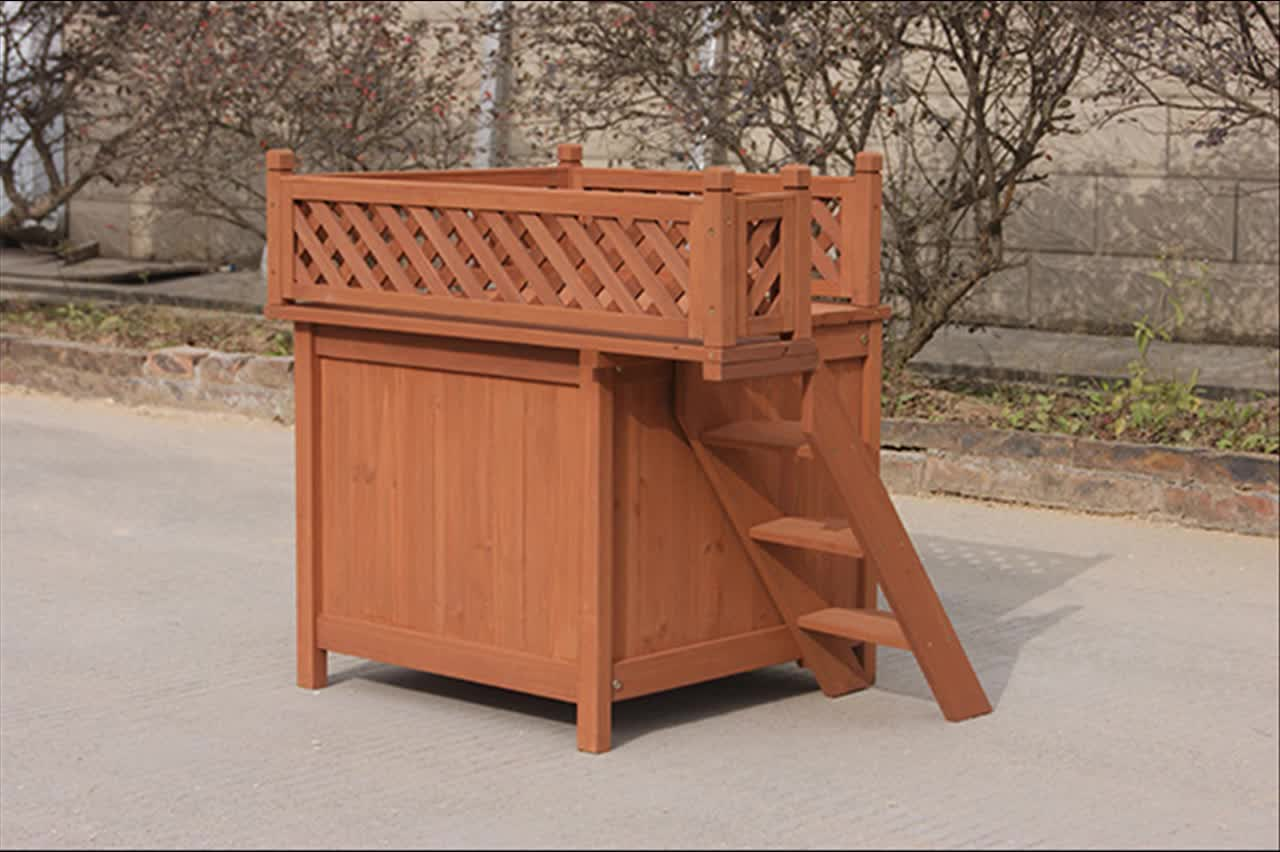 cheap price good quanlity selling wooden dog house pet home