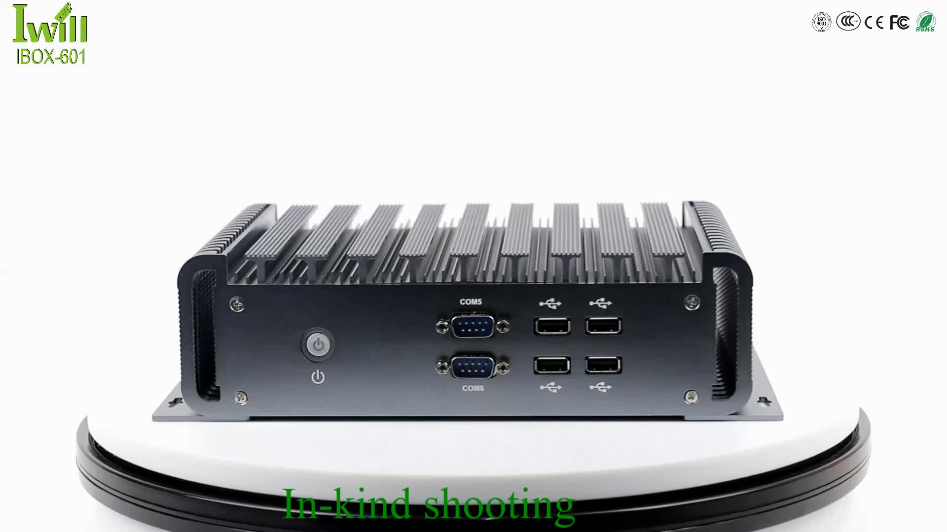 DC 9~36V Intel 6th Core i3 i5 i7 Industrial Embedded Computer Server Support 2*RS485
