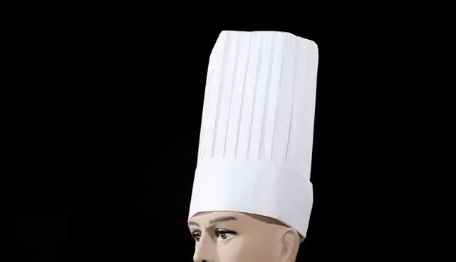 60g special white non woven round top chef hat disposable kitchen cooking cap