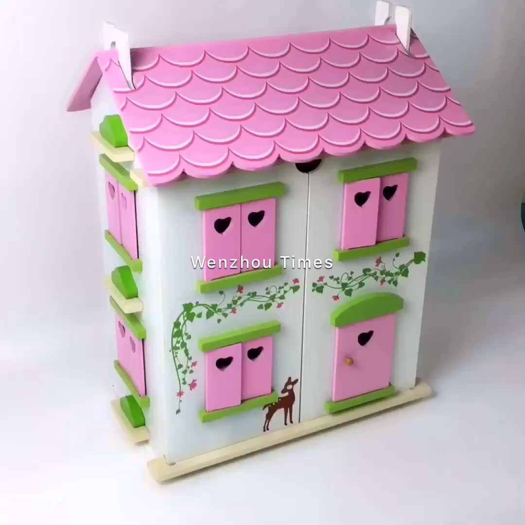 New and Popular Wooden Mini Doll House Furniture Sets ToysSolid