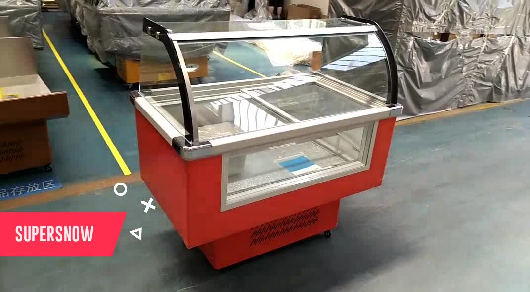 Portable Mini Small Counter Showcase Refrigerator Italian Gelato Popsicle Ice Cream Display Freezer For Used Icecream Cabinet
