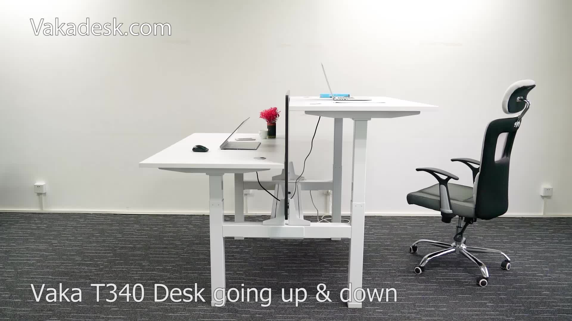4 Legs Height Adjustable Standing Desk Frame For Face To Face Buy
