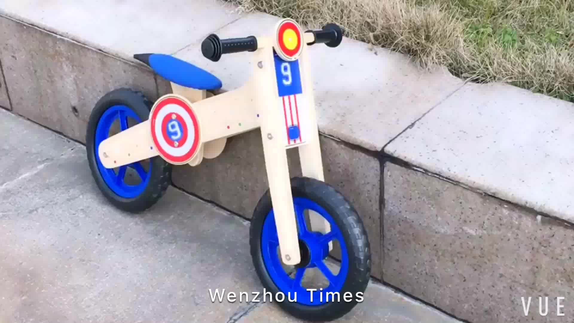 Wholesale attractive wooden first balance bicycle for baby's balance training W16C195