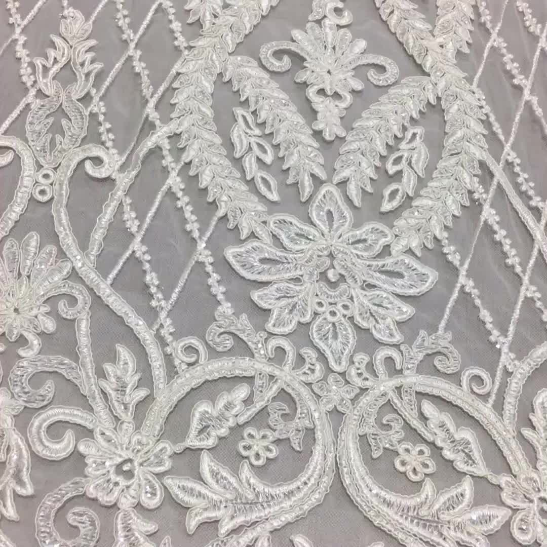 Cheap Embroidery Wedding Dress Lace Bridal Lace Fabrics