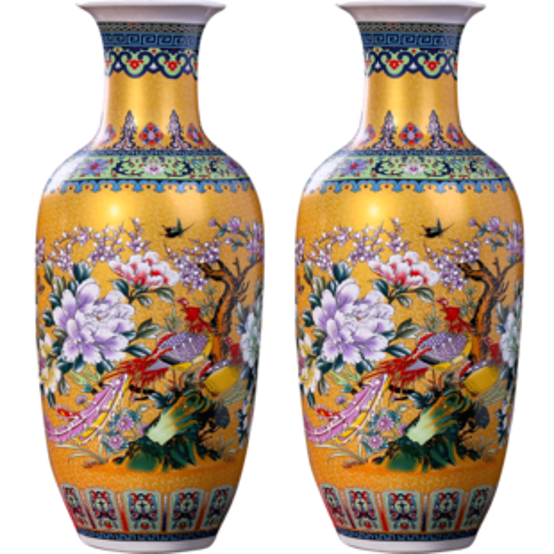 景德镇简欧式落地大花瓶插花陶瓷器