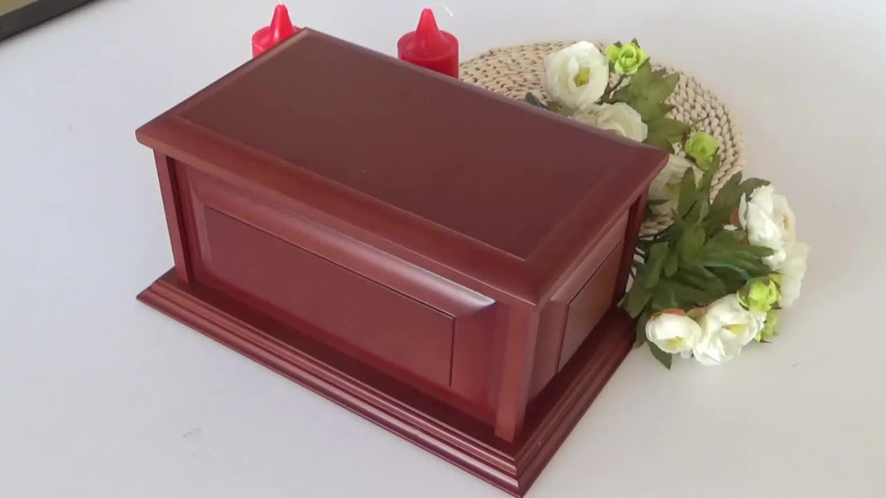 Wholesale wooden human use cremation urn
