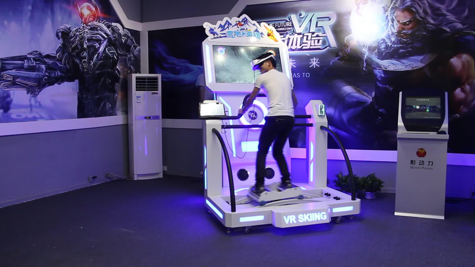 Sanal gerçeklik moda sürükleyici vr kayak uçan oyun makinesi çok oyunculu çevrimiçi kayak yarış oyunu
