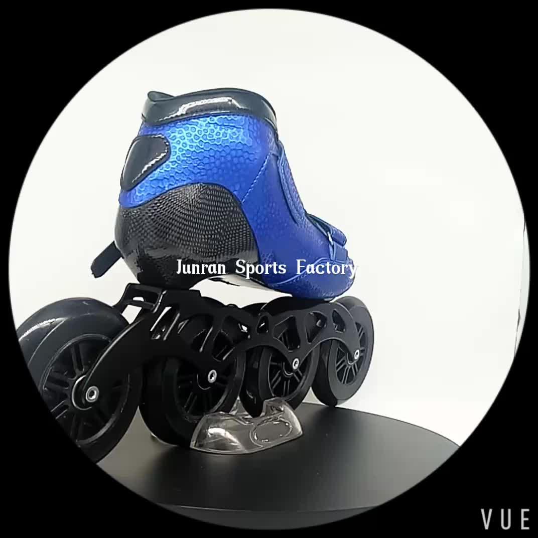 Velocidade patins inline 110 milímetros rodas de fibra de carbono novo modelo de Junran esportes