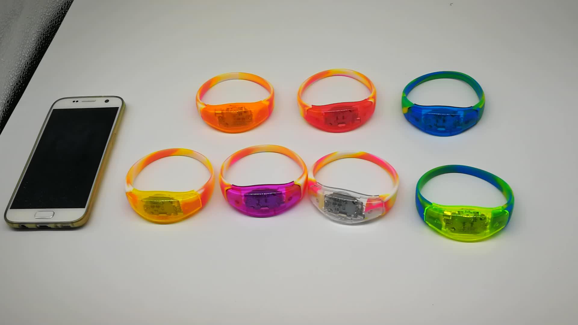 Party/Vocal concert/Bar energie Sound aktiviert LED Silikon armband