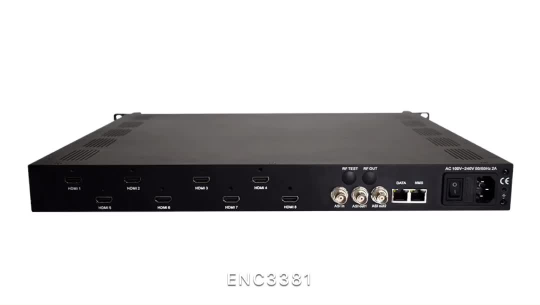 Best video quality 8 in 1 MPEG4 IP Encoder with 1080p@60fps and high bitrate to 20Mbps for Cable tv