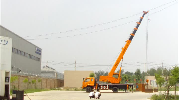 16 Ton New Hydraulic Construction Truck With Crane