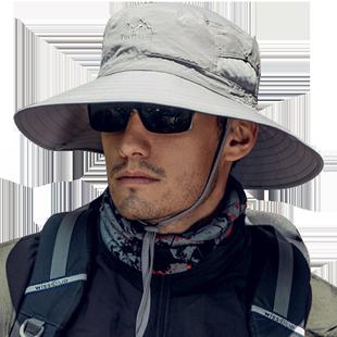 钓鱼男士登山防紫外线渔夫帽防晒帽