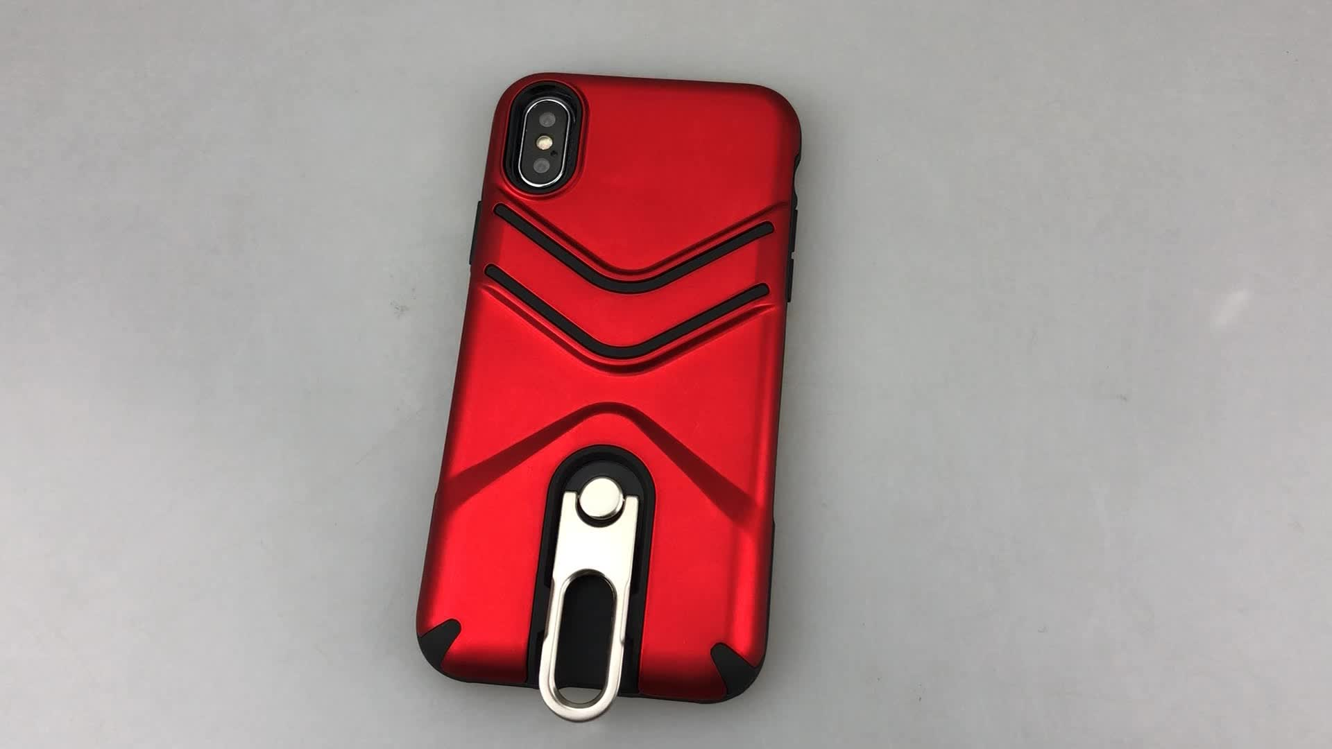 Wholesale Hybrid Armor Rugged Stand Case For iPhone X