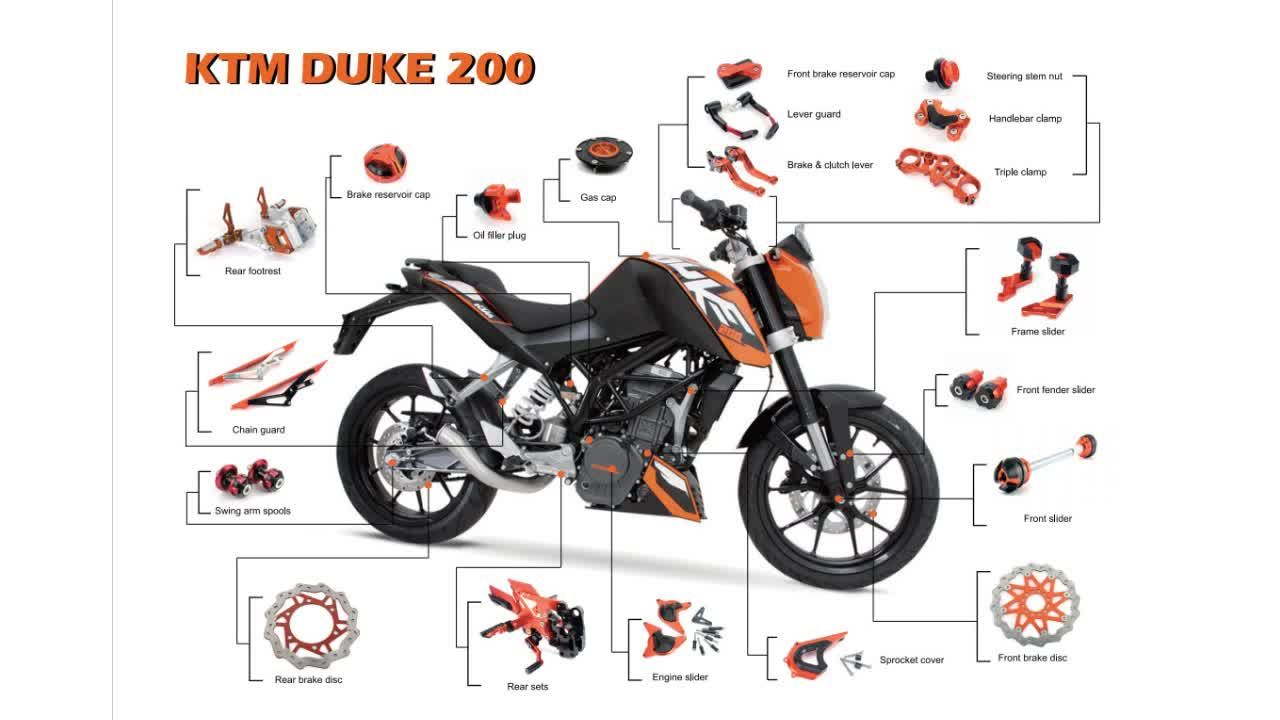 Ktm Duke Spare Parts Price In India