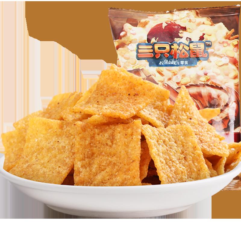 满减【三只松鼠_小米锅巴60g】休闲零食特产传统小吃麻辣小米锅巴