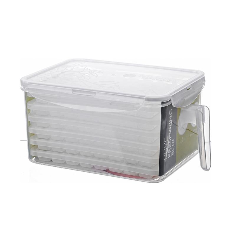 冰块模具家用自制雪糕冰盒速冻器带盖做冷饮小号冰格神器冰棒盒子