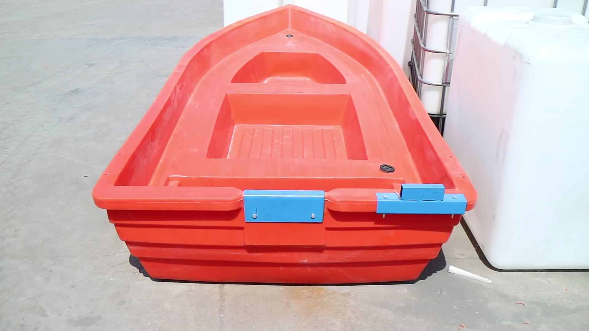 Polyethylene small plastic lake fishing boat canoe for for Small plastic fishing boats