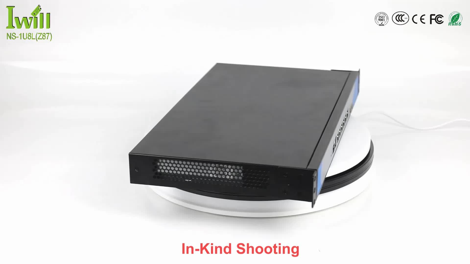 19 Inch 1U rack server Intel i3/i5/i7 Dual core 6 LAN pfsence router with 2 fibre optical port option