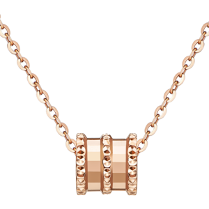 六福珠宝小蛮腰正品18k金项链女锁骨链套链彩金项链L18TBKN0042R