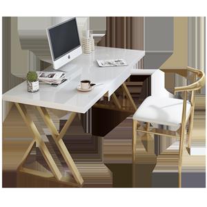 实木北欧现代简约家用书房办公桌