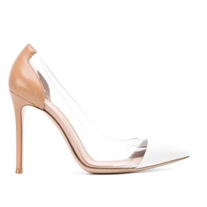 黑色细跟透明裸色性感2021高跟鞋