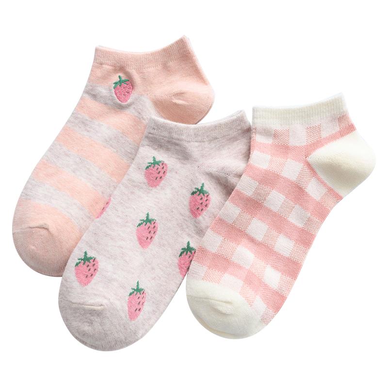 CARAMELLA袜子女短袜浅口女士棉袜船袜可爱日系隐形袜ins潮lolita