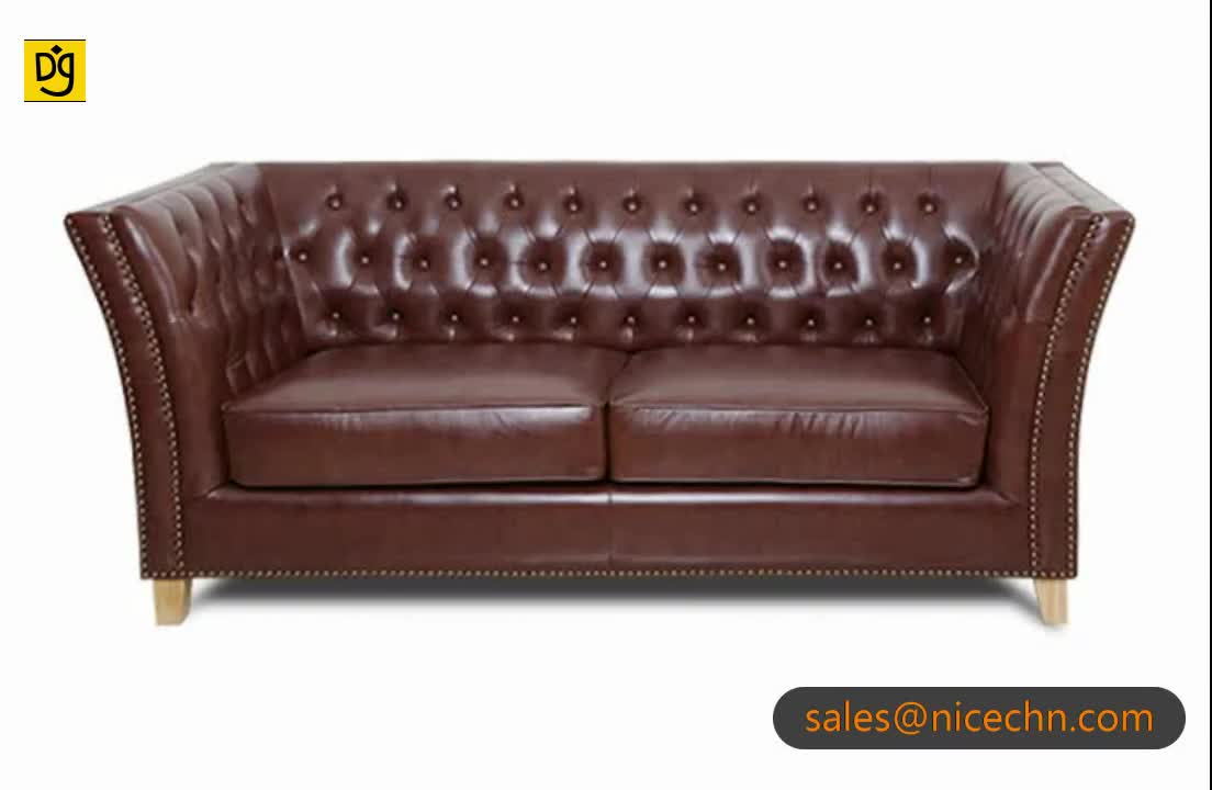 Dg Folding Living Room Sleeping Brown Leather Chesterfield Sofa Bed Replica  With Mattress Bed - Buy Chesterfield Sofa Replica,Leather Chesterfield ...